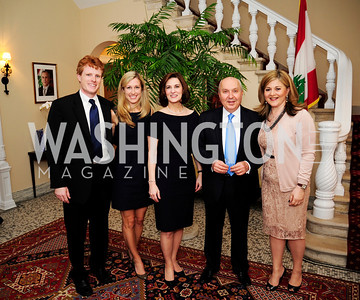 Rep  Joe Kennedy.Lauren Kennedy,Vicki KennedyLeb.Amb.Antoine Chedid,Nicole Chedid,April 24,201Dinner in Honor of Mrs.Victoria Reggie Kennedyat the Residence of the Ambassador of Lebanon,Kyle Samperton