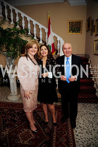 Nicole Chedid,Samia Farouki,Leb.Amb.Antoine Chedid,April 24,2013,A Dinner in Honor of Mrs.Victoria Reggie Kennedy at the Residence of the Ambassador of Lebanon,Kyle Samperton