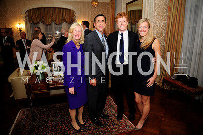 Susan Blumenthal,Rep.Darrell Issa,Rep.Joe Kennedy,Lauren Kennedy,April 24,2013,A Dinner in Honor of Mrs.Victoria Reggie Kennedy at the Residence of the Ambassador of Lebanon,Kyle Samperton