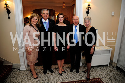 Nicole Chedid, Sec.Ray LaHood,Vicki Kennedy,Leb.Amb.Antoine Chedid,Kathy LaHood,April 24,2013,A Dinner in Honor of Mrs.Victoria Reggie Kennedy at the Residence of the Ambassador of Lebanon,Kyle Samperton