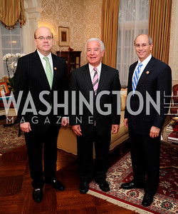 Rep.James McGovern,Rep Nick Rahall,Rep.Charles Boustany,April 24,201Dinner in Honor of Mrs.Victoria Reggie Kennedyat the Residence of the Ambassador of Lebanon,Kyle Samperton