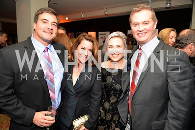 David White, Kimball Stroud, Kate Damon, Brian Wolff, Environmental Working Group hosts their 20th Anniversary Gala at the Mandarin Oriental Hotel.  October 24, 2014.  Photo by Ben Droz.