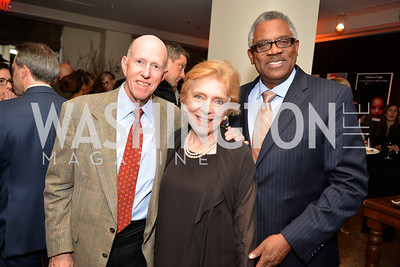 Bill Ross, Susan Gravely, James Staton, Environmental Working Group hosts their 20th Anniversary Gala at the Mandarin Oriental Hotel.  October 24, 2014.  Photo by Ben Droz.