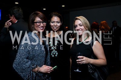 Pamela Sorensen, Christina Sevilla, Elise Labott. Photo by Tony Powell. Earth Echo Expeditions. Newseum. October 10, 2013