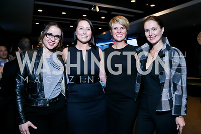 Carolina Furukrona, Heather Guay, Wendy Adeler Hall, Lana Orloff. Photo by Tony Powell. Earth Echo Expeditions. Newseum. October 10, 2013