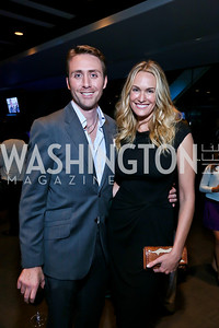 Phillipe and Ashlan Cousteau. Photo by Tony Powell. Earth Echo Expeditions. Newseum. October 10, 2013