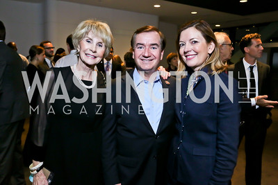 Jan Cousteau, Rep. Ed Royce, Marie Royce. Photo by Tony Powell. Earth Echo Expeditions. Newseum. October 10, 2013