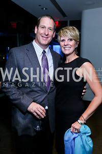 Greg Hall and Wendy Adeler Hall. Photo by Tony Powell. Earth Echo Expeditions. Newseum. October 10, 2013