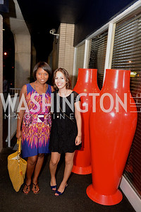 Jade Floyd, Shira Levy, (e)merge Art Fair opening party at the Capitol Skyline Hotel.  Thursday, October 10, 2013.  Photo by Ben Droz.