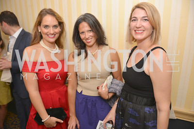 Bassima Al-Ghussein, Lindsay Krasnoff, Elizabeth Carriger, (e)merge Art Fair opening party at the Capitol Skyline Hotel.  Thursday, October 10, 2013.  Photo by Ben Droz.