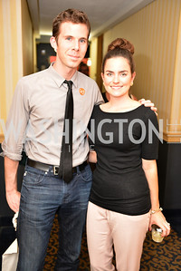 Jonathan Monaghan, Jaqueline Hiersteiner, (e)merge Art Fair opening party at the Capitol Skyline Hotel.  Thursday, October 10, 2013.  Photo by Ben Droz.