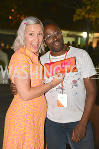 Kate Damon, Sheldon Scott, (e)merge Art Fair opening party at the Capitol Skyline Hotel.  Thursday, October 10, 2013.  Photo by Ben Droz.