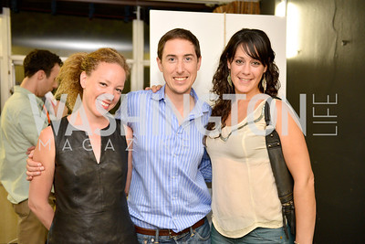 Andrea Hailey, David Williamson, Julia Levine, (e)merge Art Fair opening party at the Capitol Skyline Hotel.  Thursday, October 10, 2013.  Photo by Ben Droz.