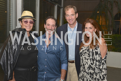 Mera Rubell, Michael Pollack, John Falk, Teddi Alyce Segal, (e)merge Art Fair opening party at the Capitol Skyline Hotel.  Thursday, October 10, 2013.  Photo by Ben Droz.
