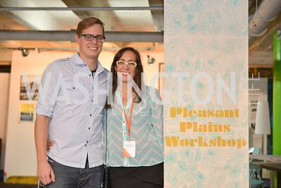 John Royer, Kristina Bilonick, Pleasant Plains Workshop,  (e)merge Art Fair opening party at the Capitol Skyline Hotel.  Thursday, October 10, 2013.  Photo by Ben Droz.