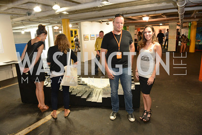 Thomas Petzwinkler, Liz Brown, (e)merge Art Fair opening party at the Capitol Skyline Hotel.  Thursday, October 10, 2013.  Photo by Ben Droz.