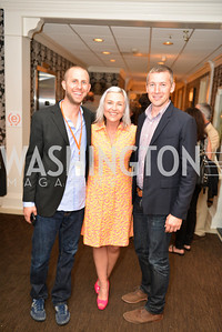 Patrick McDonough, Kate Damon, Matt Hollamby, (e)merge Art Fair opening party at the Capitol Skyline Hotel.  Thursday, October 10, 2013.  Photo by Ben Droz.