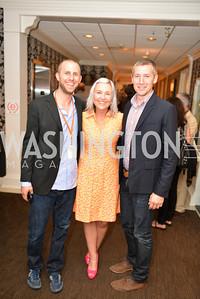 Patrick McDonough, Kate Damon, Matt Hollamby, (e)merge Art Fair opening party at the Capitol Skyline Hotel.  Thursday, October 10, 2013.  Photo by Ben Droz.