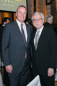 Jim Jones, Wolf Blitzer. Photo by Alfredo Flores. Etihad Airways Dinner. Mellow Auditorium. April 2, 2013.
