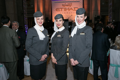 Evita Ziemle, Madina Ilmuradova, Hannah Millard. Photo by Alfredo Flores. Etihad Airways Dinner. Mellow Auditorium. April 2, 2013.
