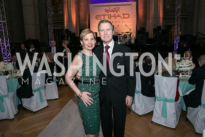 Adrienne Arsht, Bill Cohen. Photo by Alfredo Flores. Etihad Airways Dinner. Mellow Auditorium. April 2, 2013.