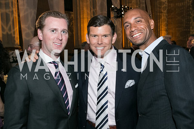 Tripp Donnelly, Bret Baier, Adrian Fenty. Photo by Alfredo Flores. Etihad Airways Dinner. Mellow Auditorium. April 2, 2013.