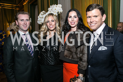 Tripp Donnelly, Amy Donnelly, Amy Baier, Bret Baier. Photo by Alfredo Flores. Etihad Airways Dinner. Mellow Auditorium. April 2, 2013.