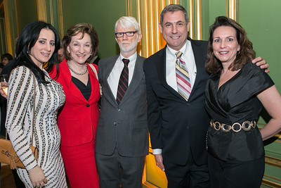Pauline Habr, Marion Blakey, Bill Blakey, Dammy Sebright, Mary Beth Long. Photo by Alfredo Flores. Etihad Airways Dinner. Mellow Auditorium. April 2, 2013.
