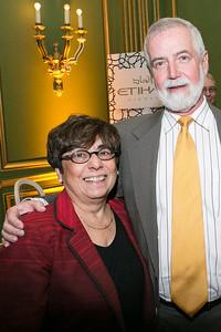 Norma Stratton, John Stratton. Photo by Alfredo Flores. Etihad Airways Dinner. Mellow Auditorium. April 2, 2013.