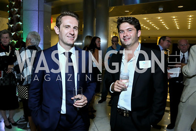 Jon Spring, Kahn Luthiger. Photo by Tony Powell. Etihad Airways VIP reception. Embassy of the UAE. September 6, 2013
