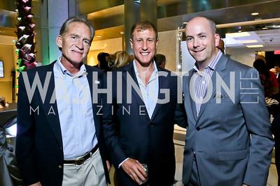 Bob Wendling, Chuck Brodsky, Scott Dickey. Photo by Tony Powell. Etihad Airways VIP reception. Embassy of the UAE. September 6, 2013