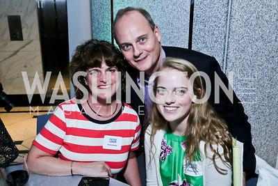 Kristine, Chris and Morgan Fenton. Photo by Tony Powell. Etihad Airways VIP reception. Embassy of the UAE. September 6, 2013