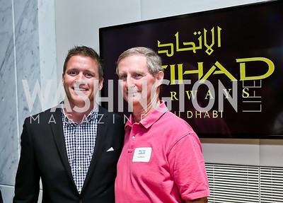 James Roberts, John Draper. Photo by Tony Powell. Etihad Airways VIP reception. Embassy of the UAE. September 6, 2013