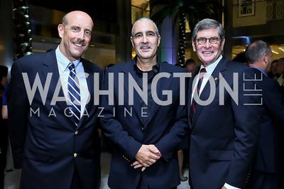 John Smith, Mark Schaum, Jim Ryun. Photo by Tony Powell. Etihad Airways VIP reception. Embassy of the UAE. September 6, 2013