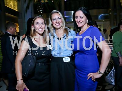 Sara Kirschner, Carrie Roberts, Pauline Habr. Photo by Tony Powell. Etihad Airways VIP reception. Embassy of the UAE. September 6, 2013