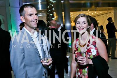 Travis Siehndel, Karen Willard. Photo by Tony Powell. Etihad Airways VIP reception. Embassy of the UAE. September 6, 2013