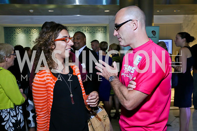 Letizia Sirtori, Nick McElwee. Photo by Tony Powell. Etihad Airways VIP reception. Embassy of the UAE. September 6, 2013