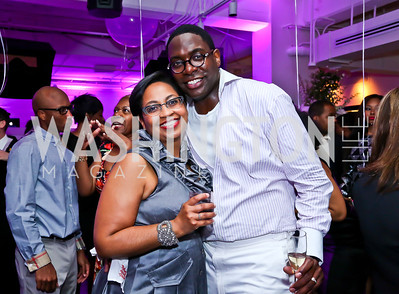 Robyn and Andre Wells. Photo by Tony Powell. Events by Andre Wells 10th Anniversary. Malmaison. June 5, 2013