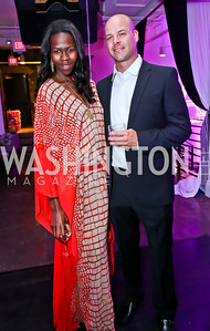 Jacqueline Akoko, Drew Schnabel. Photo by Tony Powell. Events by Andre Wells 10th Anniversary. Malmaison. June 5, 2013