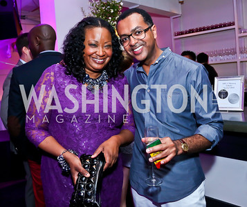 Kimberly Bassett, Abiye Abebe. Photo by Tony Powell. Events by Andre Wells 10th Anniversary. Malmaison. June 5, 2013