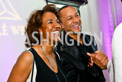 Carla Sims and Frédéric Yonnet. Photo by Tony Powell. Events by Andre Wells 10th Anniversary. Malmaison. June 5, 2013