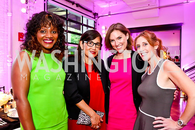 Aba Kwawu, Nancy Miyahira, Jordan Culberson, Erika Litman. Photo by Tony Powell. Events by Andre Wells 10th Anniversary. Malmaison. June 5, 2013