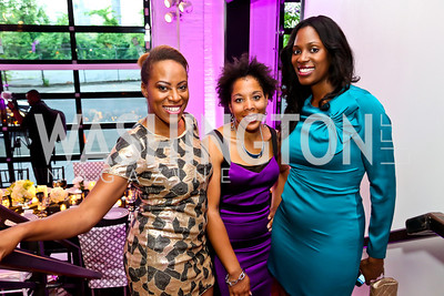Adra Williams, LaToya Lewis, Kadreika Maiden. Photo by Tony Powell. Events by Andre Wells 10th Anniversary. Malmaison. June 5, 2013