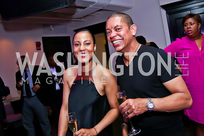 April and Roger Richmond. Photo by Tony Powell. Events by Andre Wells 10th Anniversary. Malmaison. June 5, 2013