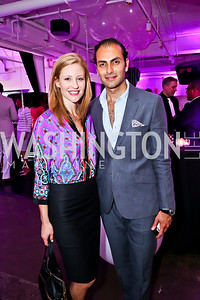 Kristina Spiegel, Omar Popal. Photo by Tony Powell. Events by Andre Wells 10th Anniversary. Malmaison. June 5, 2013