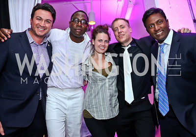 Michael Woestehoff, Andre Wells, Molly Weaver, Mark Gunderson, Peter Cherukuri. Photo by Tony Powell. Events by Andre Wells 10th Anniversary. Malmaison. June 5, 2013