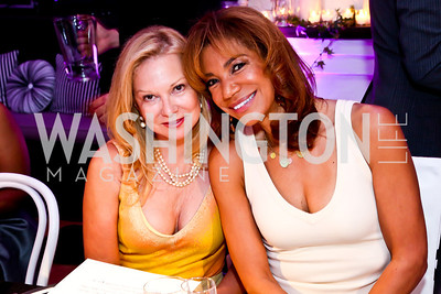 Cheryl Masri, Ann Walker Marchant. Photo by Tony Powell. Events by Andre Wells 10th Anniversary. Malmaison. June 5, 2013