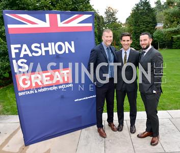 Kevin Harter, Matt Marden, Josh Peskowitz, Fashion is Great, Bloomingdales and Detail Magazine, British Embassy.  Thursday, October 3 2013.  Photo by Ben Droz.