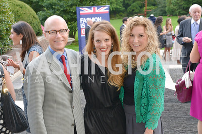 Craig Helsing, Melinda Goforth, Courtney Zellner, Fashion is Great, Bloomingdales and Detail Magazine, British Embassy.  Thursday, October 3 2013.  Photo by Ben Droz.