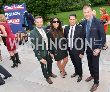 Colin Stark, Lynn Scotti, Chris Cornier, Kevin Harter, Fashion is Great, Bloomingdales and Detail Magazine, British Embassy.  Thursday, October 3 2013.  Photo by Ben Droz.